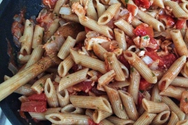 Penne with Herbed Tomatoes and Tuna